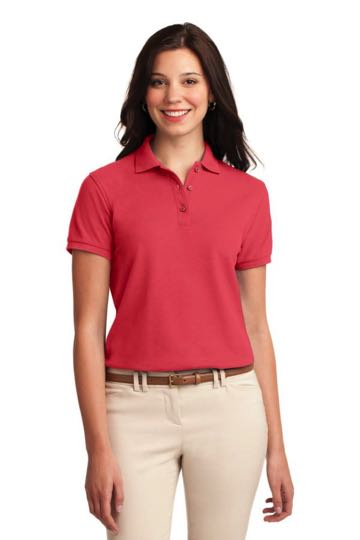 L500 Ladies Port Authority Silk Touch Sport Shirt