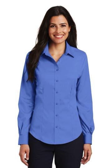 L638 Port Authority Ladies Long Sleeve Non-Iron Twill Shirt.