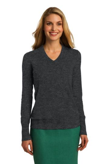 LSW285 Port Authority Ladies V neck sweater