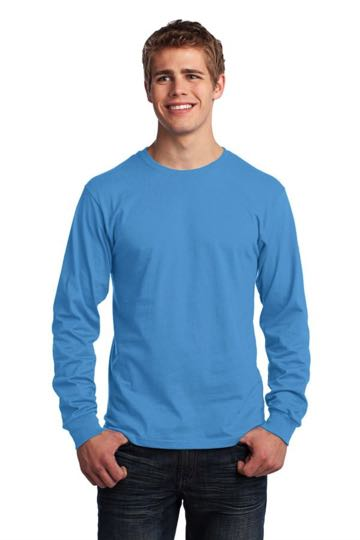 Port & Company® - Long Sleeve 5.4-oz. 100% Cotton T-Shirt. PC54LS.