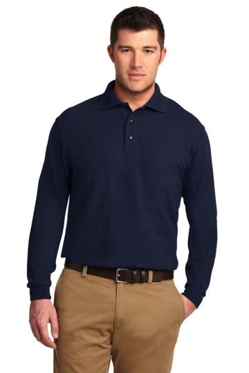TLK500LS Port Authority TALL Silk Touch Long Sleeve Polo - TALL SIZES